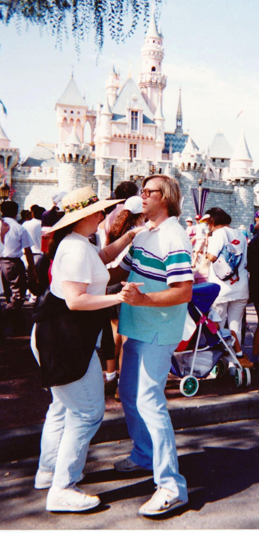 Laurie and Mark dancing at Disneyland