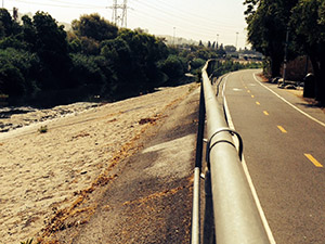 Path along the LA River