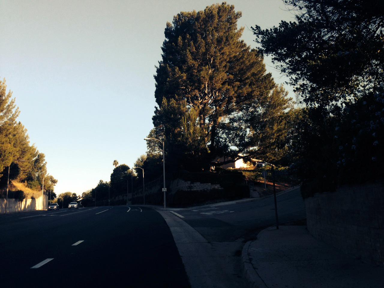 Road with bike lane.