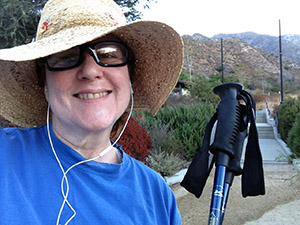 Laurie at the trailhead