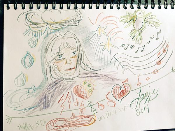 crazy pencil drawing