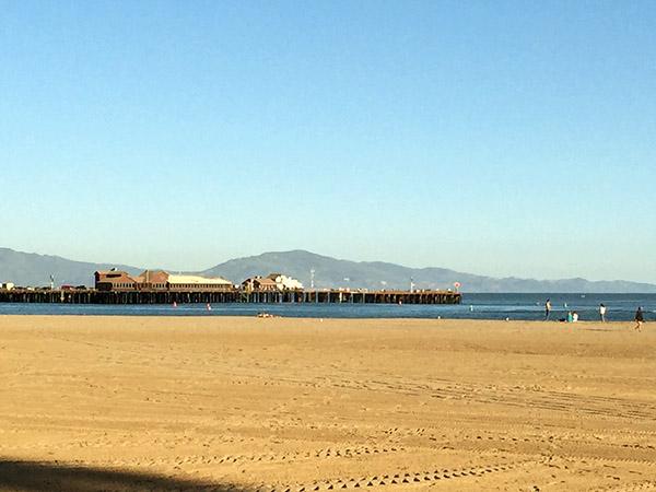 View of the wharf in Santa Barbara