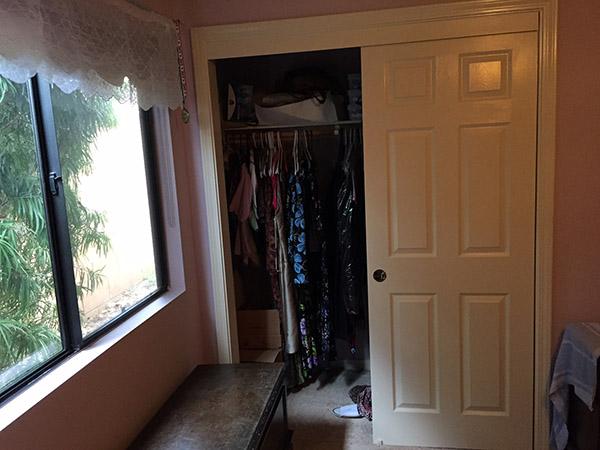 Laurie's half open closet