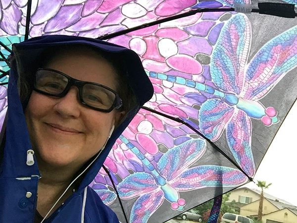 Laurie with dragonfly umbrella