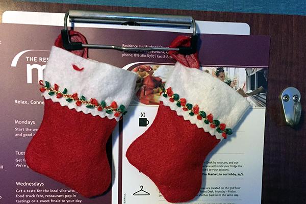Tiny red stockings