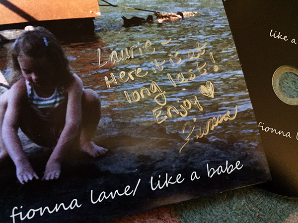 Copy of Fionna Lane's CD, Like a Babe