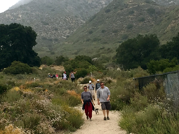 People on the hiking trail